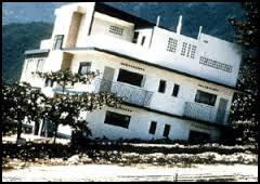 House Tilted Sideways